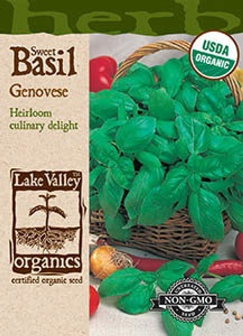 Lake Valley Basil Genovese Organic Seed