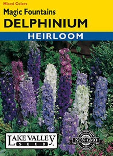 Lake Valley Delphinium Magic Fountains Mixed Colors Seed
