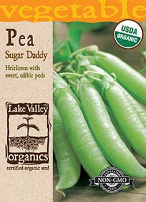 Lake Valley Pea Sugar Daddy Snap Organic Seed