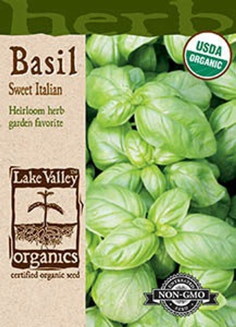Lake Valley Basil Sweet Italian Organic Seed