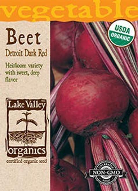 Lake Valley Beet Detroit Dark Red Organic Seed