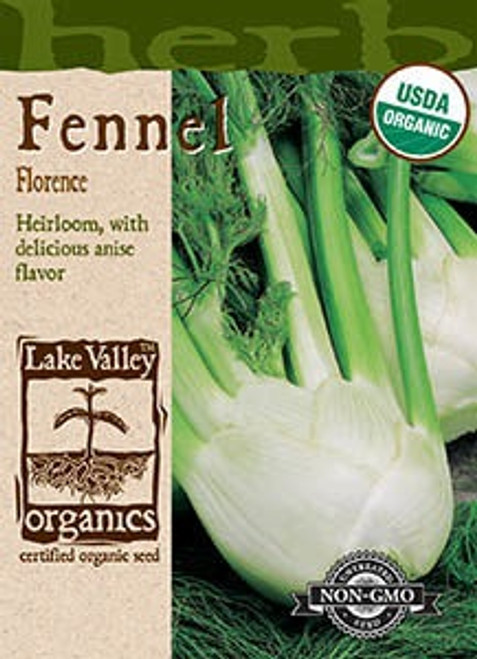 Lake Valley Fennel Florence Organic Seed