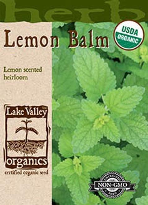 Lake Valley Lemon Balm Organic Seed