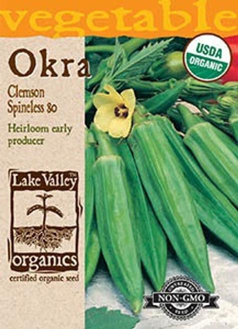 Lake Valley Okra Spineless Organic Seed