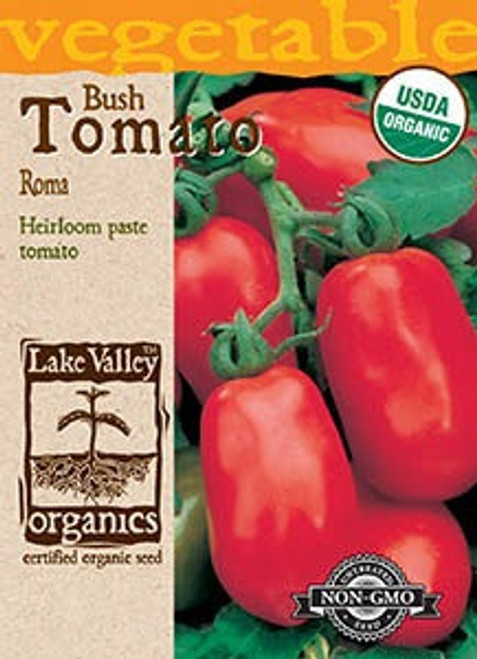 Lake Valley Tomato (Bush) Roma Organic Seed