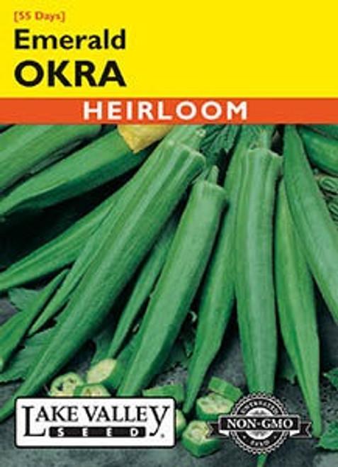 Lake Valley Okra Emerald Seed