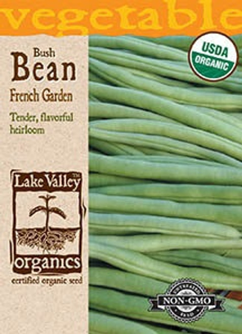 Lake Valley Bean (Bush) French Garden Organic Seed