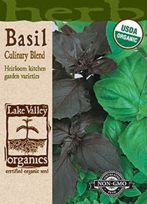 Lake Valley Basil Culinary Blend Organic Seed