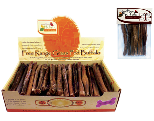 Canine Caviar Buffalo Bully Sticks, 6""