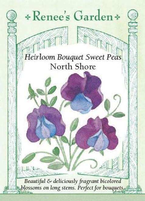 Renee's Garden 'North Shore' Heirloom Bouquet Sweet Pea Seed