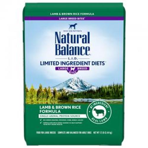 Natural Balance Large Breed Lamb & Rice, 26lb