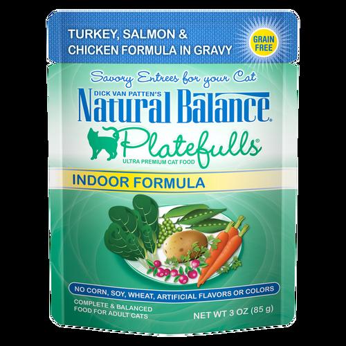 Natural Balance Indoor Platefuls Turkey, Salmon & Chicken, 3oz