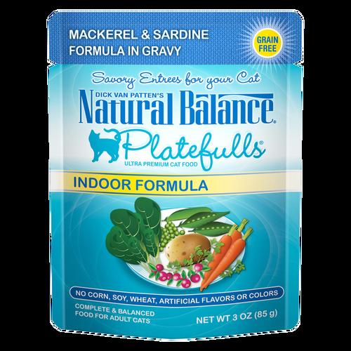 Natural Balance Indoor Platefuls Mackerel & Sardine, 3oz