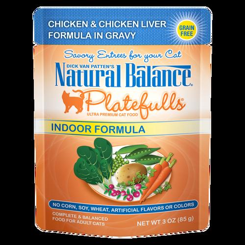 Natural Balance Indoor Platefuls Chicken & Chicken Liver, 3oz