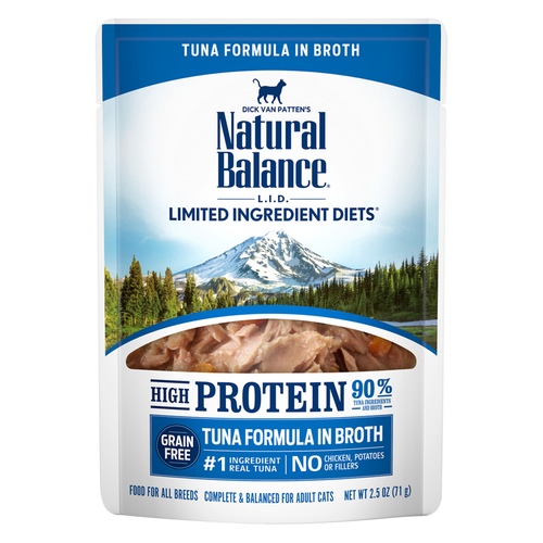 Natural Balance L.I.D. Hi Protein Tuna Pouch, 2.5oz