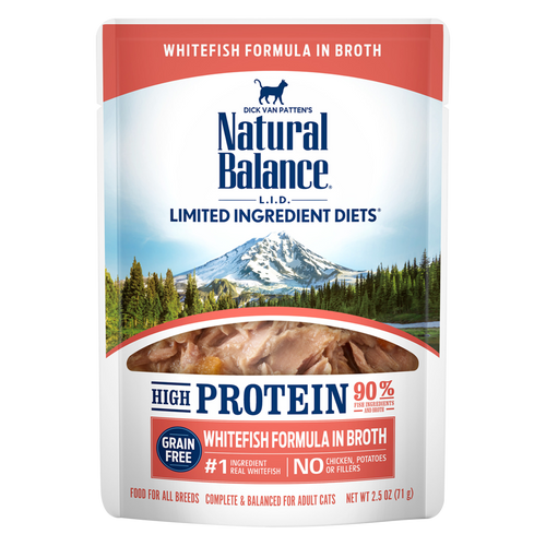 Natural Balance L.I.D. Hi Protein Whitefish Pouch, 2.5oz