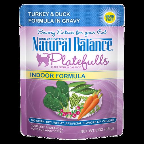 Natural Balance Indoor Platefulls Turkey & Duck, 3oz
