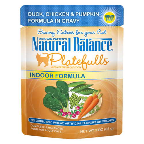 Natural Balance Indoor Platefulls Duck, Chicken & Pumpkin, 3oz