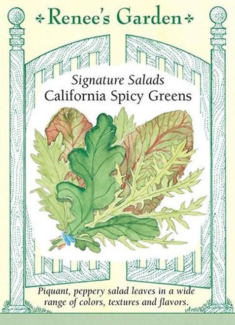 Renee's Garden 'California Spicy Greens' Signature Salads Seed