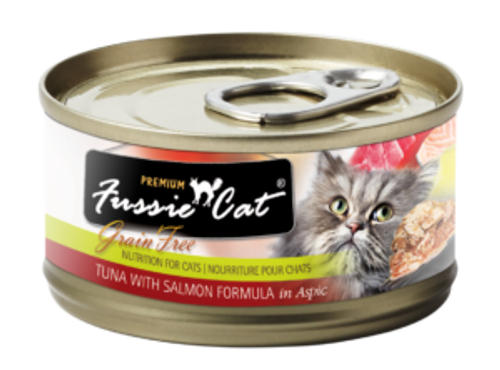 Fussie Cat Tuna & Salmon, 2.8oz