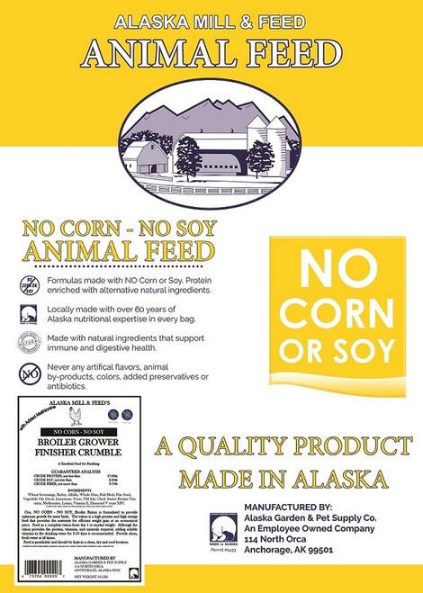 Broiler Grower Crumbles No Corn-No Soy, 50lb