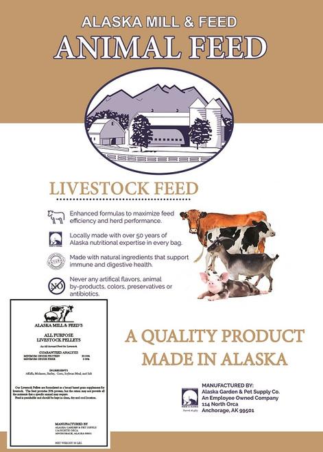All Purpose Livestock Pellets, 50lb