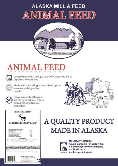 Reindeer 13% Pellets, 50lb