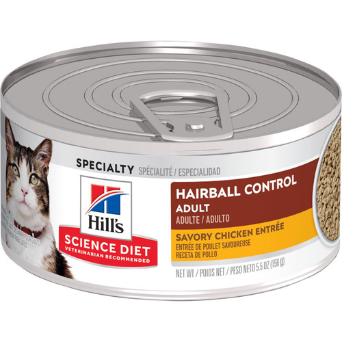 Science Diet Cat Hairball Control Chicken Entrée, 2.9oz