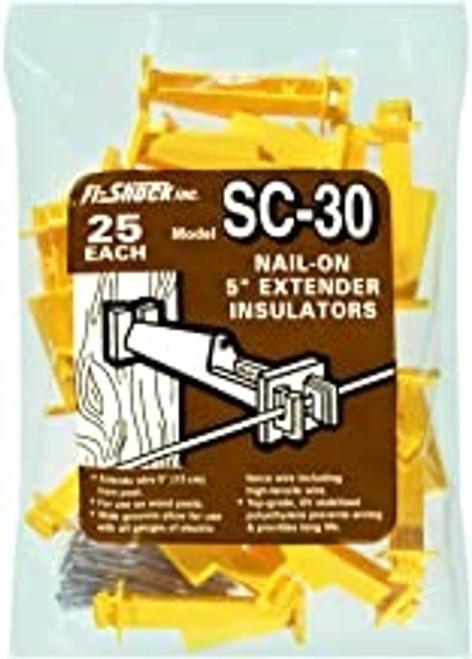 Fi-Shock Nail-On 5in Extender Insulators, 25pk