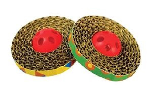 Outward Hound Sping & Scratch Cat Toy, 2 pack