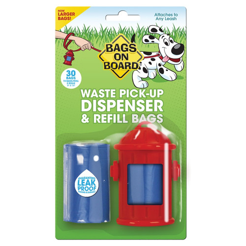 Bags on Board Fire Hydrant Waste Pick Up Dispenser