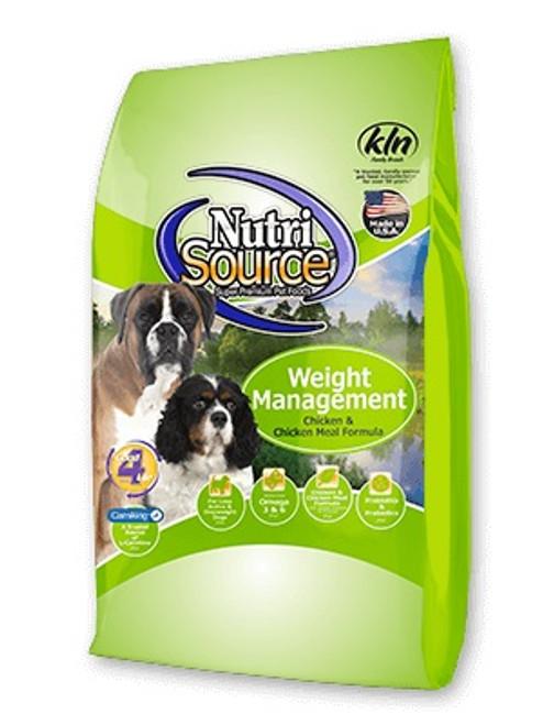 NutriSource Weight Management, 30lb