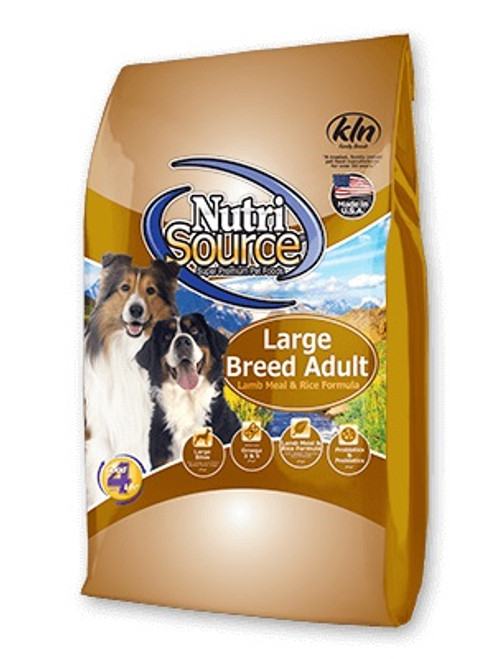NutriSource Large Breed Lamb & Rice, 30lb