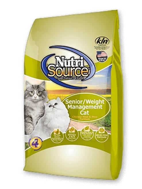 NutriSource Cat Senior & Weight Management, 6.6lb