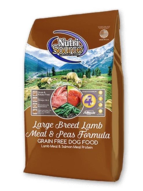 NutriSource Grain Free Large Breed Lamb & Pea, 30lb