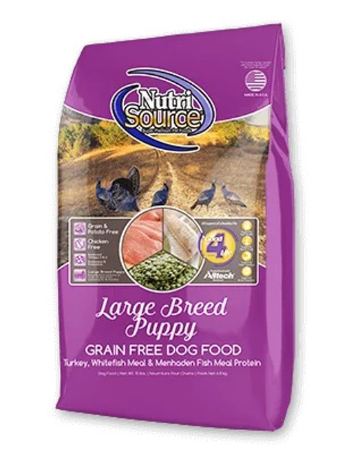 NutriSource Grain Free Large Breed Puppy, 30lb