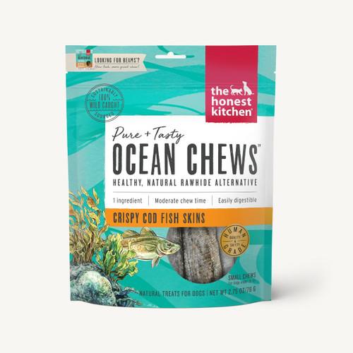 The Honest Kitchen Beams Ocean Chews Cod Skins 2.75oz Small