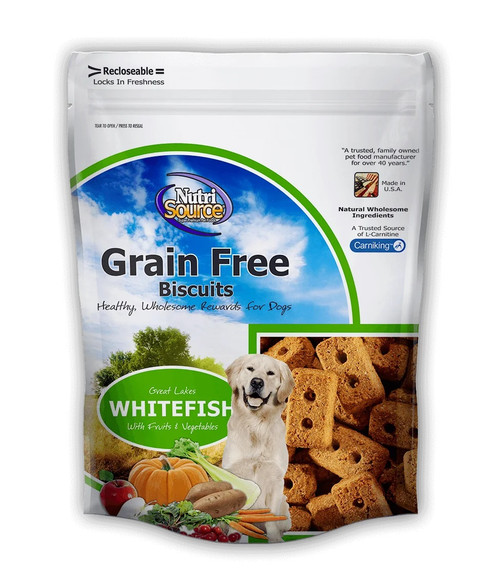 NutriSource Grain Free Whitefish Biscuit, 14oz