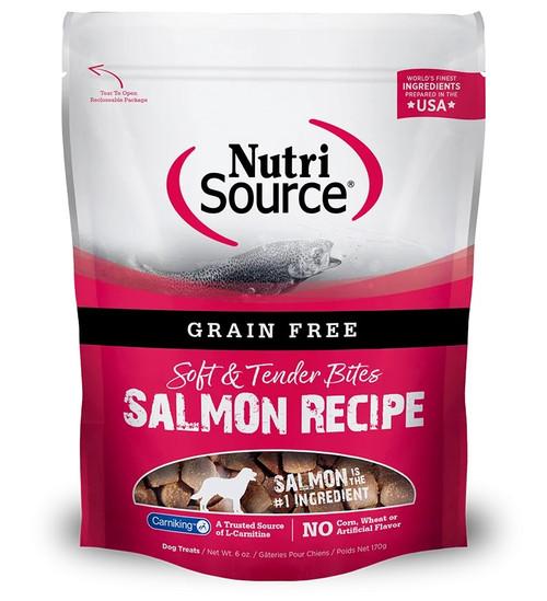 NutriSource Soft & Tender Bites Salmon, 6oz