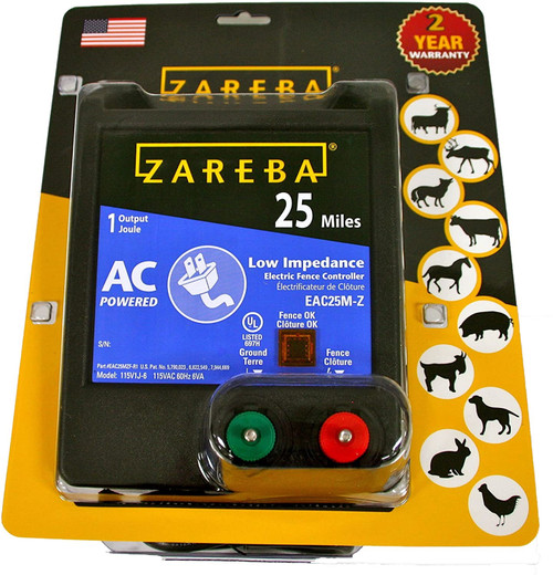 Zareba AC Electric Fence Charger, 25 mile