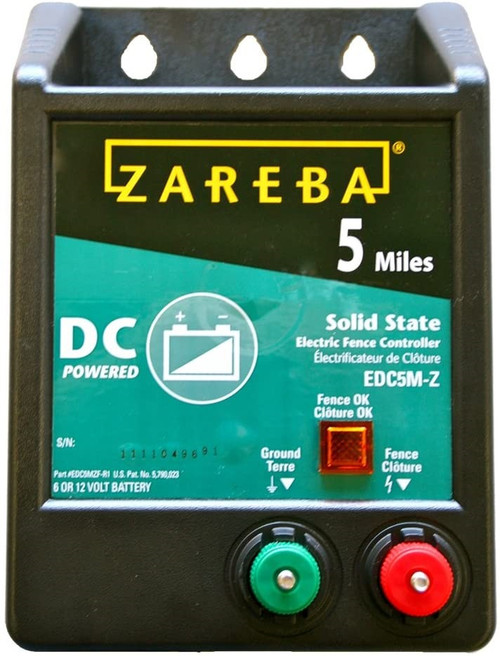 Zareba Battery Electric Fence Charger, 5 mile