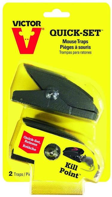 Victor Quick-Set Mouse Trap, 2pc