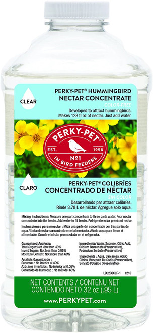 Perky Pet Hummingbird Nectar Concentrate, 32oz
