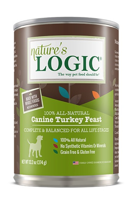 Nature's Logic Canned Canine Turkey Feast, 13.2oz