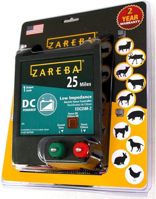 Zareba DC Electric Fence Charger, 25 mile