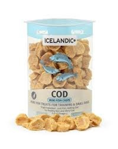 Icelandic Cod Fish Chips Dog Treat, 2.5oz