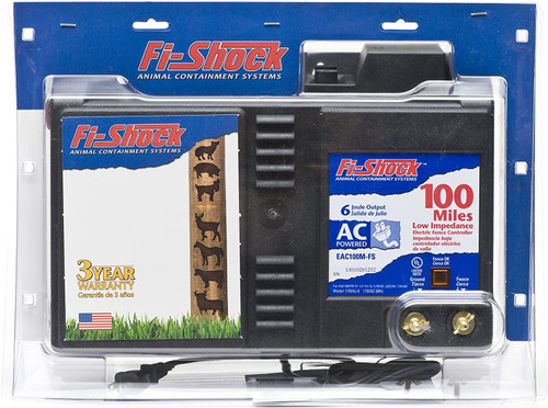Fi-Shock AC Electric Fence Charger, 100 mile