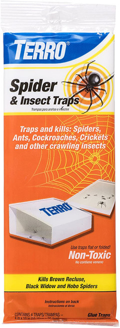 Terro Spider & Insect Glue Traps, 4pc