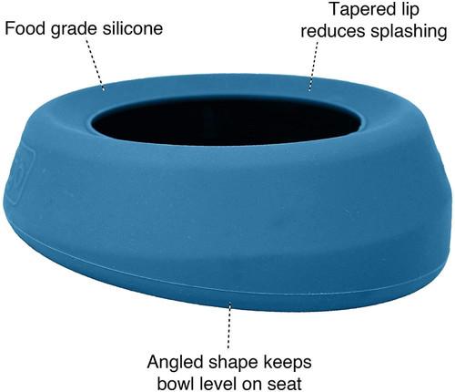 Kurgo Blue No Spill Dog Travel Bowl