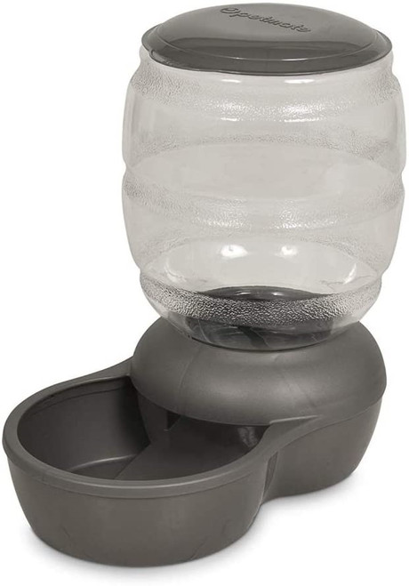 Petmate Replendish Feeder With Microban Silver